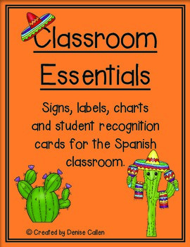 Classroom Essentials--Signs, Labels and Charts