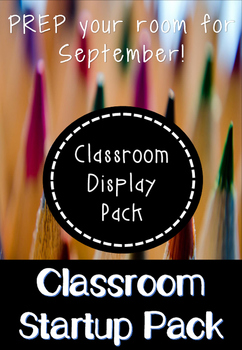 Classroom Start-Up Pack for Early Years and KS1 Classrooms