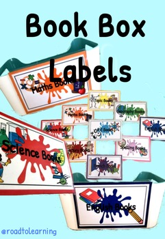 Classroom Exercise Book Box Labels