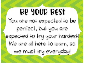 Classroom Expectation Posters & Reflection Sheets