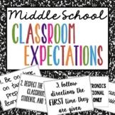 Middle School Behavior Expectation Posters - Classroom Management | Decor