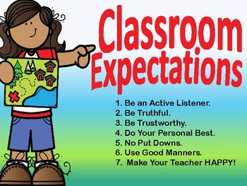 Classroom Expectation/Rules- Back to School