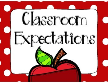Classroom Expectations RED