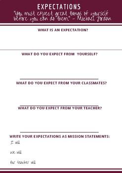 Classroom Expectations Activity