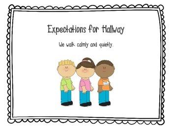 Classroom Expectations Anchor Charts