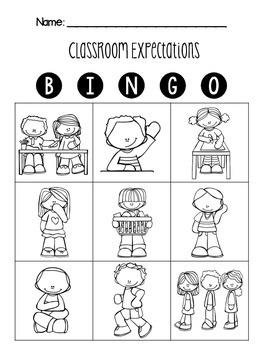 Classroom Expectations BINGO
