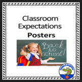 Classroom Expectations - Back to School Rules Posters Classroom Decor