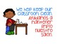 Classroom Expectations Bilingual