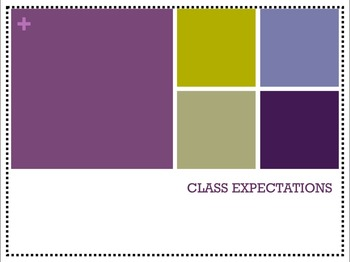 Classroom Expectations Activity - powerpoint and student s