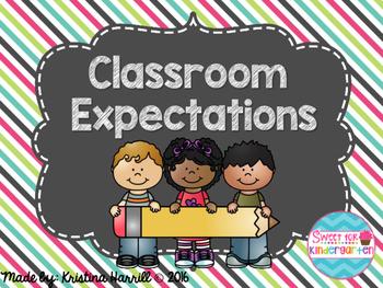 Classroom Expectations {Chalkboard}