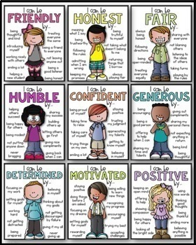 Classroom Expectations   Character Traits Posters  Positive Character Traits