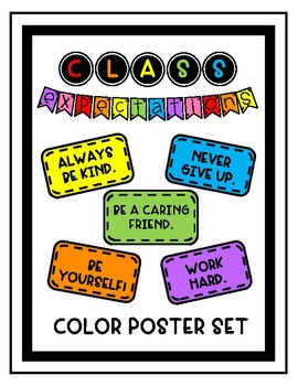 Classroom Expectations - Color