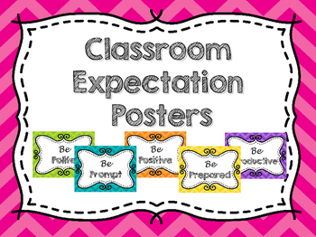 Classroom Expectations Colorful Posters