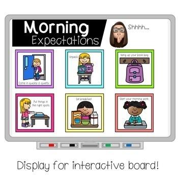 Classroom Expectations Display and Printable (Editable!)