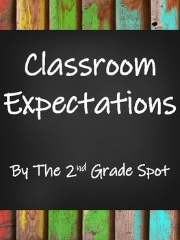 Classroom Expectations-Distressed Wood