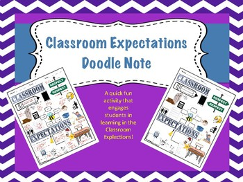 Classroom Expectations Doodle Note