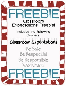 Classroom Expectations FREEBIE