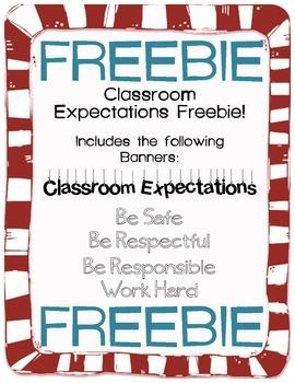 Classroom Expectations FREEBIE