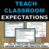 Back to School Classroom Expectations Fill in the Blank