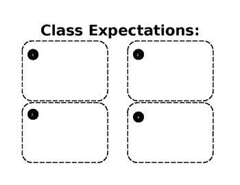 Classroom Expectations Interactive Notebook