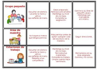 Classroom Expectations-Las expectativas de la clase