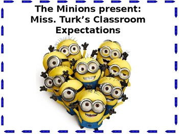 Classroom Expectations Minion Themed Posters by Hannah's