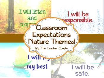 Classroom Expectations - Nature Theme