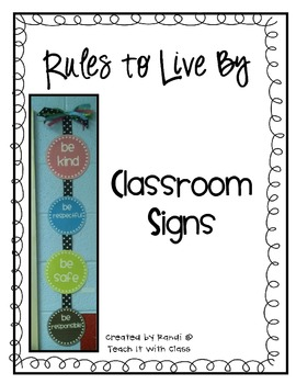 Classroom Expectations PBIS FREEBIE