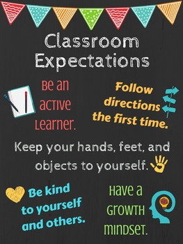 Classroom Expectations Poster
