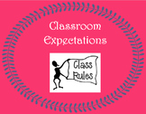 K -12 Classroom Expectations Poster - Individual, Group, Effort, Technology