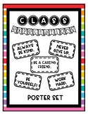 Classroom Expectations Poster Set