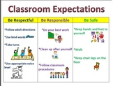 Classroom Positive Behavior Expectations Poster