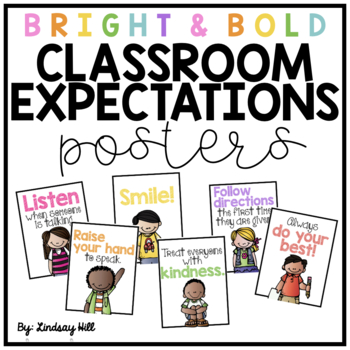 Classroom Rules & Expectations Posters