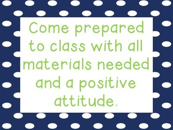 Classroom Expectations Posters