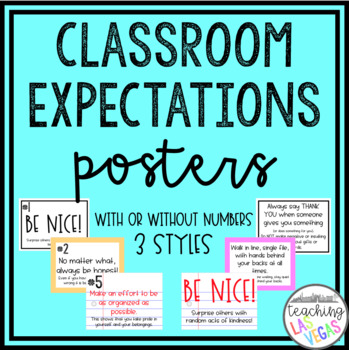Editable Classroom Expectations Posters