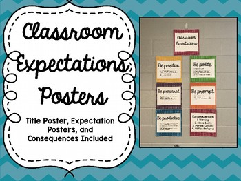Classroom Expectations Posters- INK SAVING