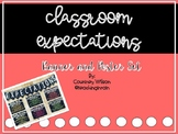 Classroom Expectations Posters and Banner