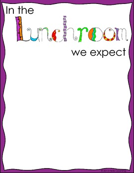 Classroom Expectations Posters and Student Activity