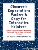 Classroom Expectations Posters and Student Copy