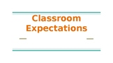 Classroom Expectations Powerpoint