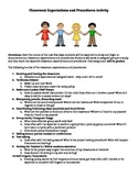 Classroom Expectations-Procedures Activity