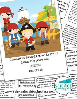 Classroom Expectations, Procedures, & Safety Scavenger Hunt -task cards/booklet
