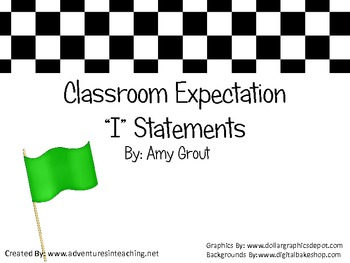 "Classroom Expectations Race-Themed ""I"" Statements"
