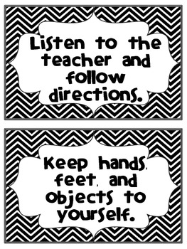 Classroom Expectations - Rule Chart