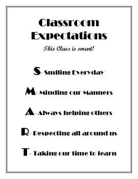 Classroom Expectations-SMART Students