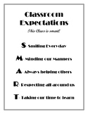 Classroom Expectations-SMART Students