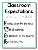 Classroom Expectations SWAG