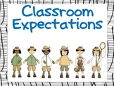 Classroom Expectations Safari Theme (Dual Language)