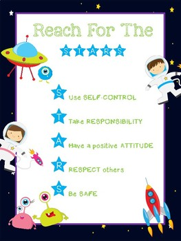 Classroom Expectations Space Theme