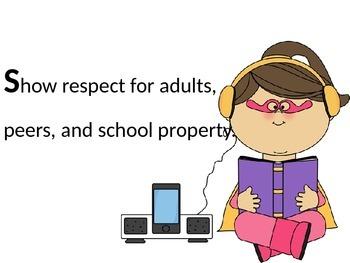 Classroom Expectations--SuperHEROES theme